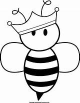 Queen Bee Coloring Doodle Sketches Bumble Pages Clipart Gemerkt Von Google Pencil sketch template
