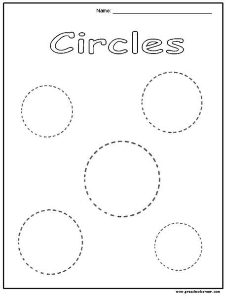 12 best images of circle tracing printable worksheets