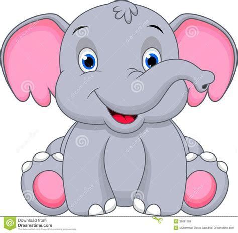 cute baby elephant cartoon stock images image