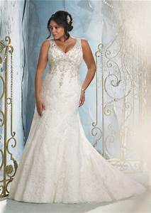 sexy mermaid v neck lace beaded plus size wedding dress With sexy plus size wedding dresses