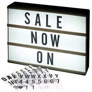 Cinema A4 Led Light Up Message Board Word Display Sign