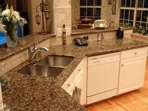 Baltic Brown Granite Countertops, light maple floors. Add ...