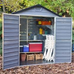 6 X 5 Plastic Shed by 6 X 5 Palram Skylight Plastic Grey Shed