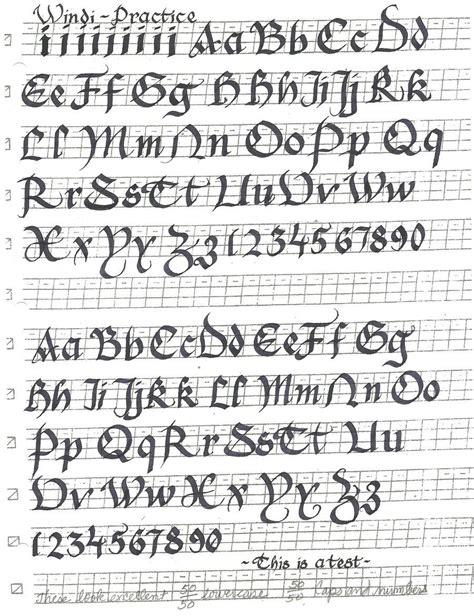 gothic cursive calligraphy font  windblownrebel
