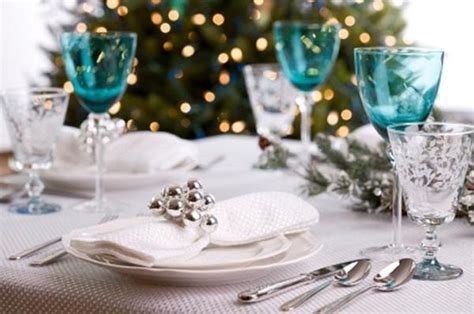 blue and white christmas table decorations decorating a blue white christmas ideas inspiration