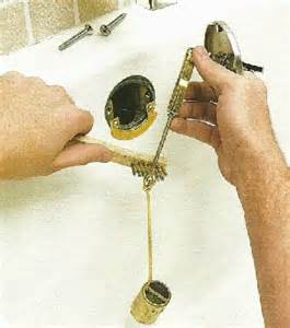 ehowdiy com how to fix a plunger type drain
