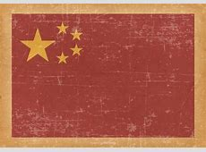 China Flag on Old Grunge Background Download Free Vector