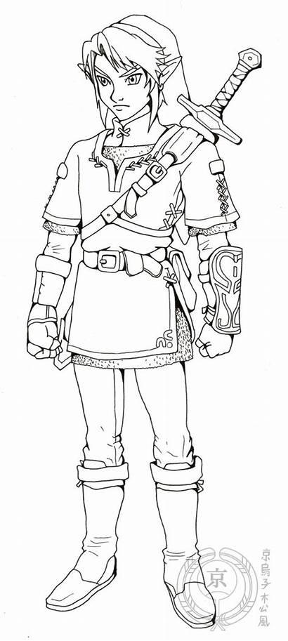 Link Lineart Zelda Legend Deviantart 2007