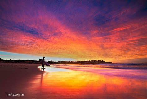 Sunset Bondi Beach Seeaustralia Australia Pinterest