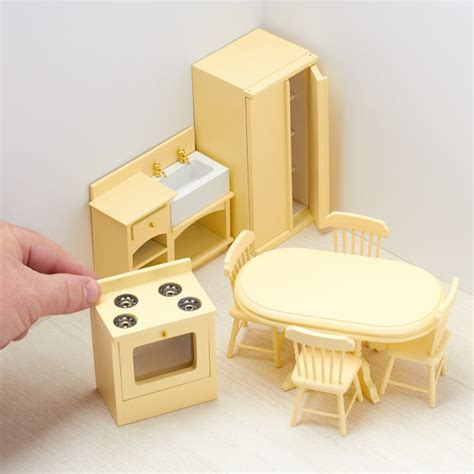 Dollhouse Miniature Kitchen Set   Bedroom Miniatures