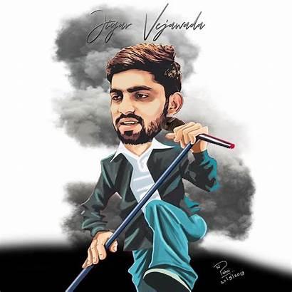 Caricature Singer Nikhil Patni Santa Stoned