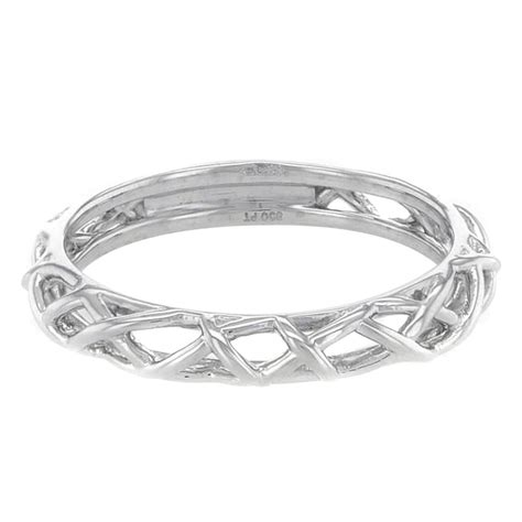 hearts  fire platinum braided wedding band stackable