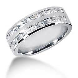 mens platinum wedding band platinum baguette 39 s wedding ring 1 10ct