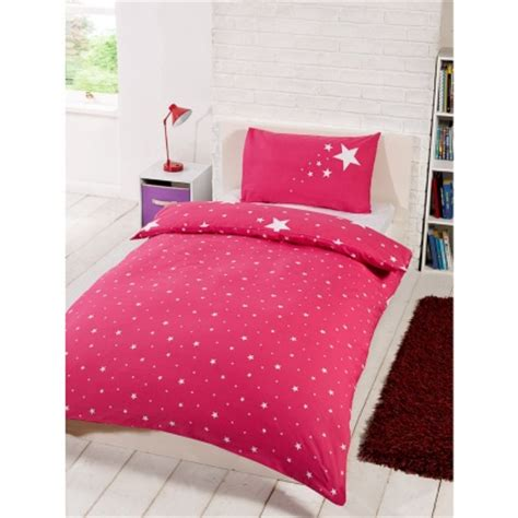 glow in the single duvet set pink bedding duvet