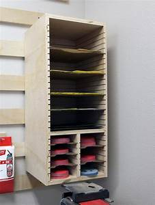 Sandpaper Storage Station Plans - The Geek Pub