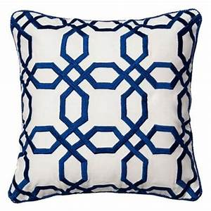 Blue and white octagons throw pillow for Blue and white accent pillows