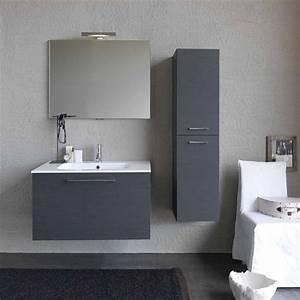Mobile Bagno Moderno Base Lavabo E Semicolonna Sospesi L