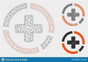 Health Care Diagram Vector Mesh Network Model And Triangle