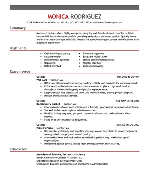 best sales cashier resume exle livecareer