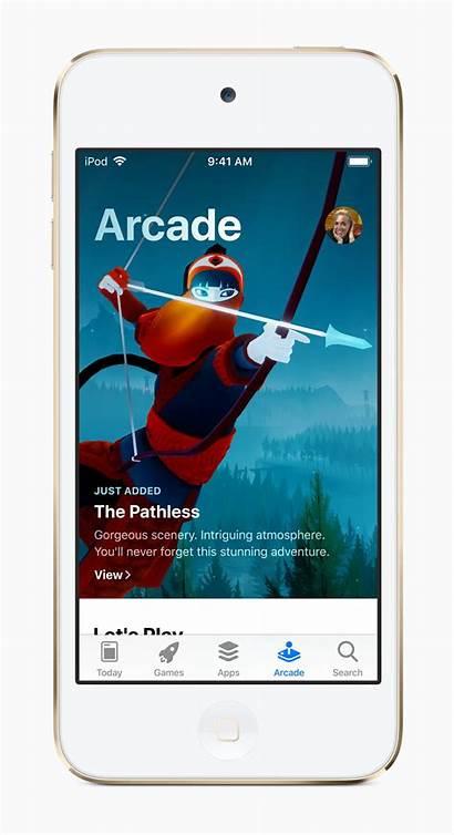 Apple Ipod Touch Ar Arcade Play Screen