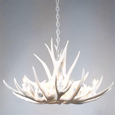 white antler chandelier faux deer antler chandelier d9
