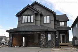 Modern Black House Bright Accents Dark Rundle Stone Grey House Architecture Pinterest