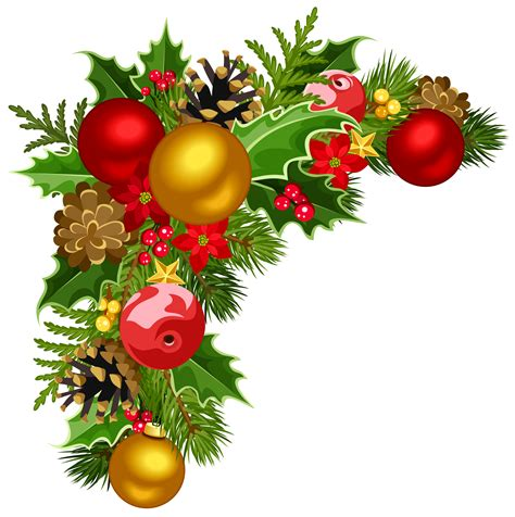 christmas decorations clipart happy holidays christmas