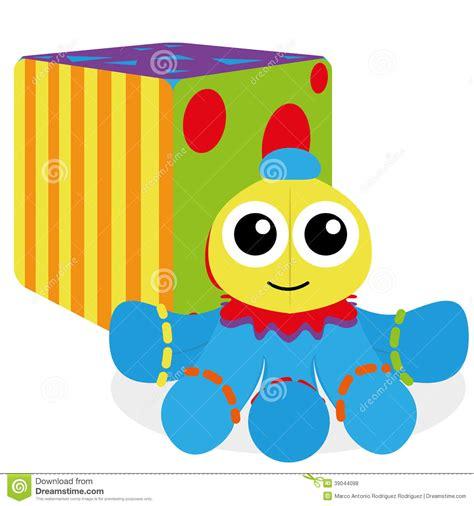 Cartoon Baby Toys Isolated On White Background Stock ...