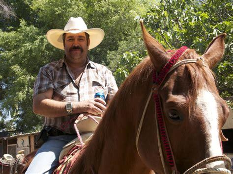 mexican cowboys hold    rural vaquero
