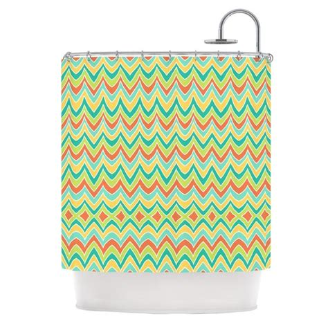 pom graphic design quot bright and bold quot shower curtain kess