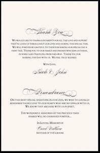 In remembrance wedding program wedding program thank you for Wedding ceremony remembrance wording