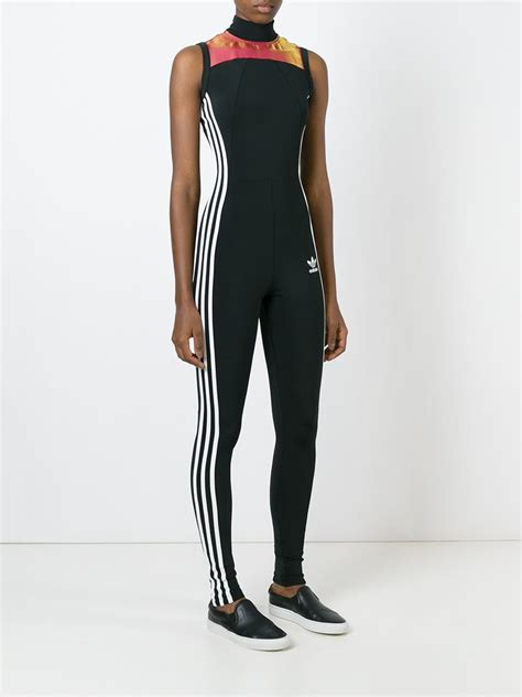 adidas jumpsuit for lyst adidas originals 39 space shift aio 39 jumpsuit in black