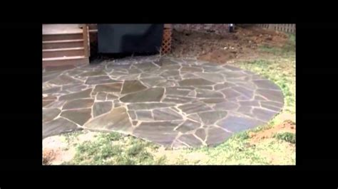 sealing a flagstone patio flagstone patio being sealed
