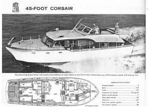 1954 45 U0026 39  Chris Craft Corsair Ad With Specs
