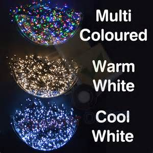 snowtime indoor outdoor led christmas tree lights in white blue or multi coloured cheaper