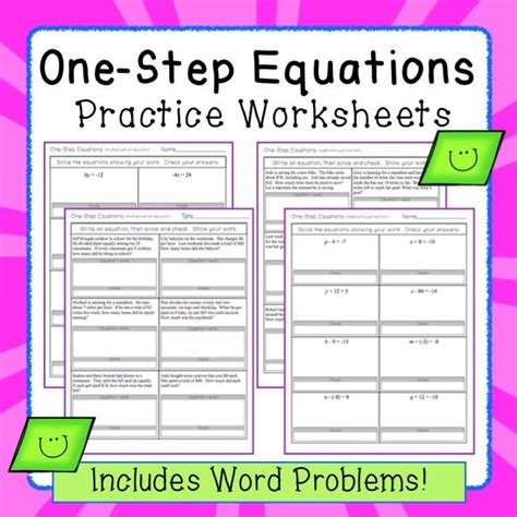 writing addition subtraction equations worksheets