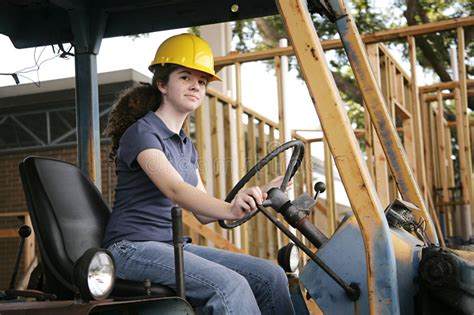 female heavy equipment operator stock image image  mechanical building