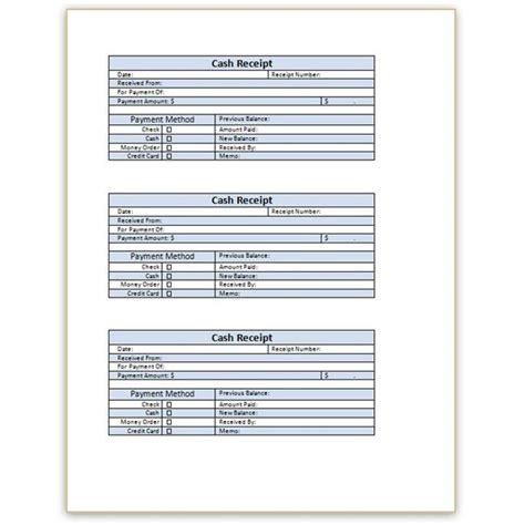 blank receipt template microsoft word printable receipt