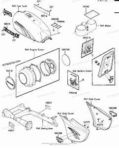 Kawasaki Motorcycle 1984 Oem Parts Diagram For Labels
