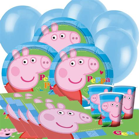 peppa pig birthday supplies with the world peppa pig and george character from the