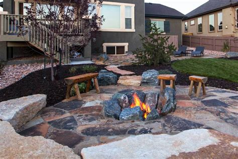 gas fireplace river rocks 8 outdoor pit ideas for your backyard
