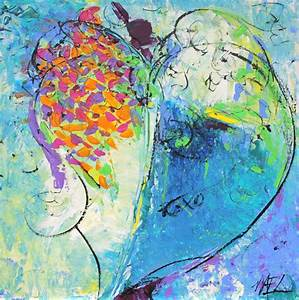 "Elizabeth Chapman: Abstract Heart Painting, ""More Love ..."