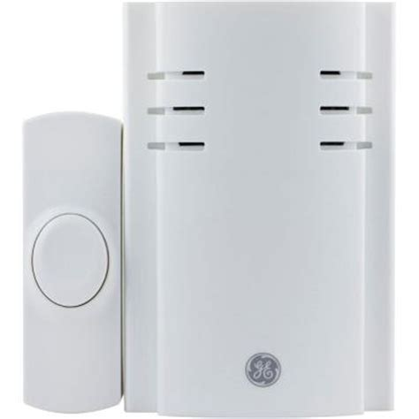 ge wireless door chime ge in chime with 8 melodies and 1 push button 19299