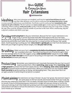 Hair Extension Guide   Printable