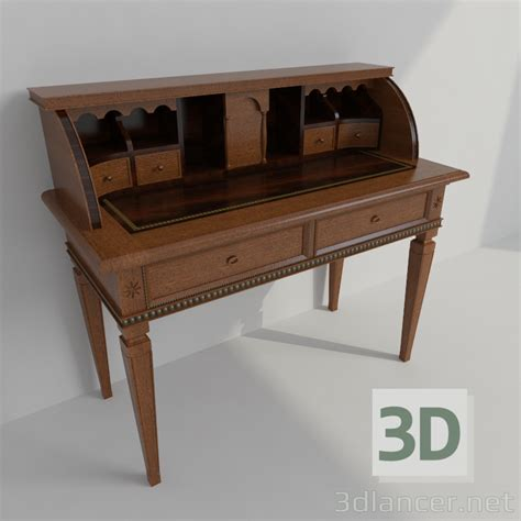 bureau 3d 3d model the bureau in the style of classicism id 21961