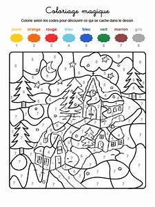 Coloriage Magique D39un Paysage D39hiver