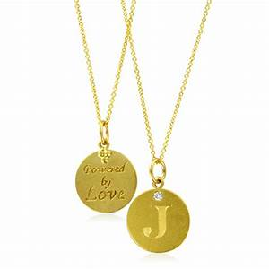 initial necklace letter j diamond pendant with 18k yellow With letter j pendant gold