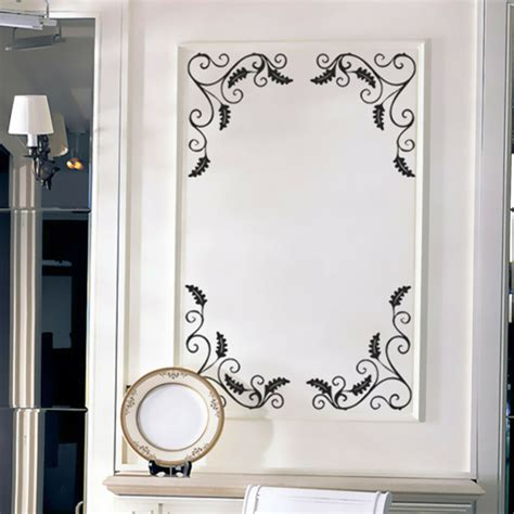 Mirror Decals For Bathrooms by 4pcs Removable Showcase Glass Window Bathroom Mirror Wall
