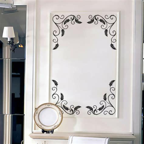 Mirror Stickers Bathroom by 4pcs Removable Showcase Glass Window Bathroom Mirror Wall