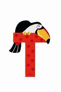 Buchstaben Für Kinderzimmertür : buchstabe t tukan versch farben ~ Orissabook.com Haus und Dekorationen